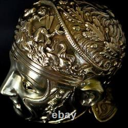 16 gauge Brass Medieval Knight Roman Helmet With Face Mask PD
