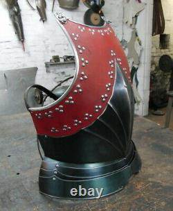 16GA Medieval Armor Cuirass/ Breastplate Leather-covered Gothic Breastplate