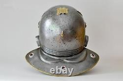 16GA Steel & Brass Medieval Roman Imperial Gallic D Helmet With Horse Hair Plume