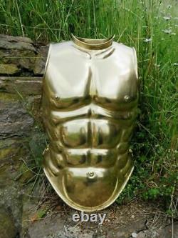 16ga Brass Medieval Knight Reenactment Muscle Armor Cuirass With Leg Greaves