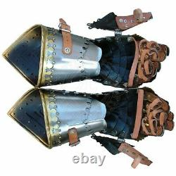 18ga Medieval Medieval Pair of Finger Gothic Guantlets Knight Armor Gloves vdw