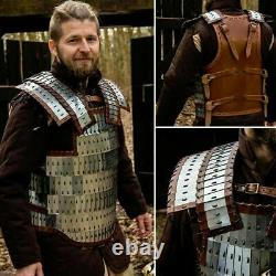 1MM Plated Medieval Lamellar Viking Polished Armour Cuirass Viking Breastplate