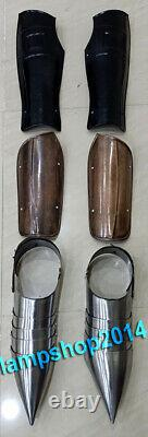 Armor Knight Leg Guard & Arm Guard With Shoes Medieval Renaissance Costume