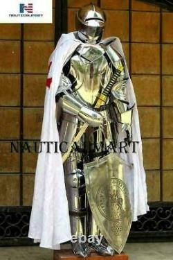 Armour Medieval Knight Crusader Full Suit Of Armor Collectible Knight Armor