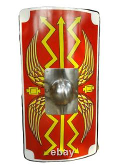 Armour Shield Fully Functional Medieval Roman Scutum Red For Battle