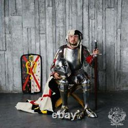 Churburg Style medieval full Suit Of Armor Reenactment of historical