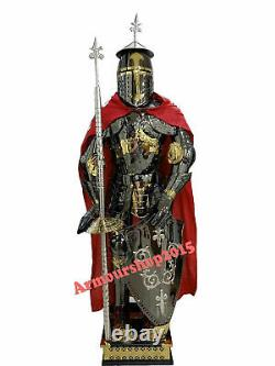 Costume Knight Suit of Armor Medieval Combat Full Body Armour Suit With Stand