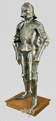 Full body medieval german gothic suit of armour 15th century replica