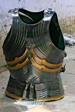 Fully Wearable Gothic Dark Medieval Knight Cuirass Warrior Armor Breastplate