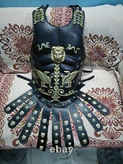 Halloween Leather Muscle Armor Chest Breast Plate Medieval Armour Costume