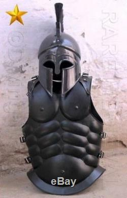 Halloween Medieval Roman Armor Spartan Costume With Muscle Jacket Evant Costume