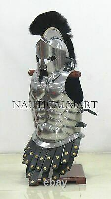 Handcrafted Medieval 300 roman spartan armor helmet with solid muscle armor jacket