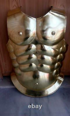 Knight Medieval Templar Steel Armour Muscle Jacket Body Chest Armor Jacket