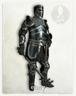 LARP 18GA Steel Medieval Knight EDWARD ARMORED Full Suit Of Armor