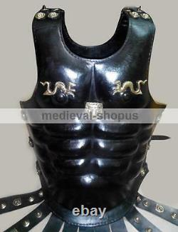 Leather Armor Muscle Body Medieval Armour Cuirass Roman Breastplate Sca Costume
