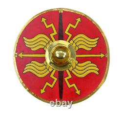Medieval 24 Roman Red Armour Shield Fully Functional Designer Shield