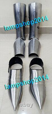 Medieval 300 King Spartan Armor Shoes With Leg Guard & Arm Guard
