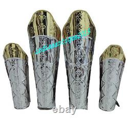 Medieval Armor Stainless steel leg Guard & Arm Guard Graves Guard Costume