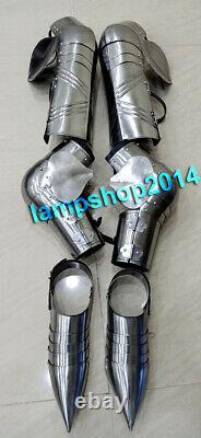 Medieval Armor knight Leg Guard & Arm Guard With Shoes Reenactment LARP