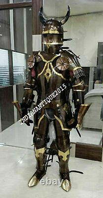 Medieval Brass Knight Suit Of Full Body Armour Templar Cosplay Costume