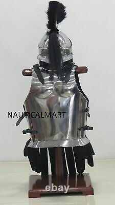 Medieval Breastplate Muscle Armour Costume New Jacket Spartan Helmet With Plume