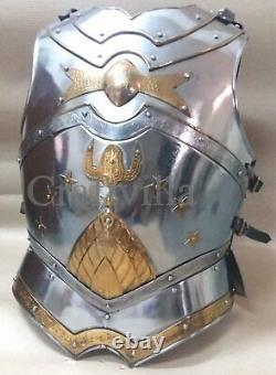 Medieval Collectible knight Roman Greek Muscle Body-Armor Steel LARP Chest Plate