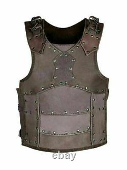 Medieval Cuirass Hero brown leather body armour Collectible Costume