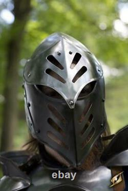 Medieval Full Body CQ Black Ice Medieval Armour Full Suit Larp Cosplay Costume