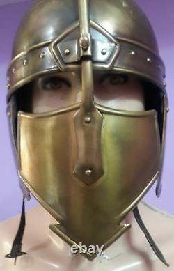 Medieval Knight Ancient Helmet WithLeather LinerUnique Historical Armor Helmet