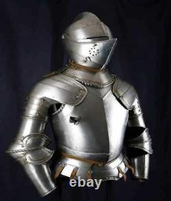 Medieval Knight Plate Armour Suit Battle Warrior Full Body Armour Suit 18 Gauge