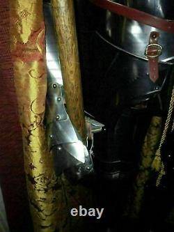 Medieval Knight Suit of Armor Combat Full Body Armour Suit With Stand, Base