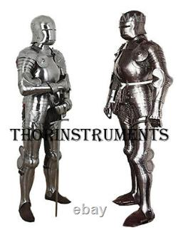 Medieval Knight Suit of Armor Wearable Halloween Full Body Armor Costume