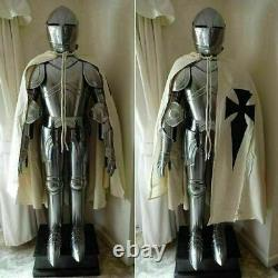 Medieval Knight Suit of Templar Armor WithTunic Combat Full Body Armour Halloween