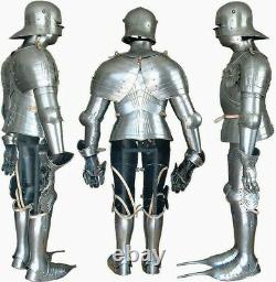 Medieval Knight Warrior Larp Fully Wearable Gothic Full Suit Of Armor Body Armo
