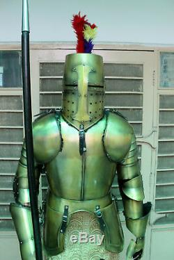 Medieval Knight Wearable Suit Of Armor Crusader Combat Full Body Armour AC01