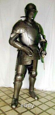 Medieval Knight Wearable Suit Of Armor Crusader Combat Full Body Armour AR07
