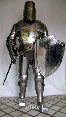 Medieval Knight Wearable Suit Of Armor Crusader Combat Full Body Armour AR17
