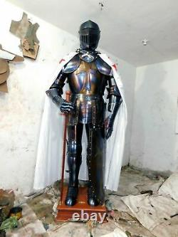 Medieval Knight Wearable Suit Of Armor Crusader Combat Full Body Armour AR21
