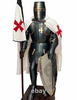 Medieval Knight Wearable Suit Of Armor Crusader Combat Full Body Armour AR23