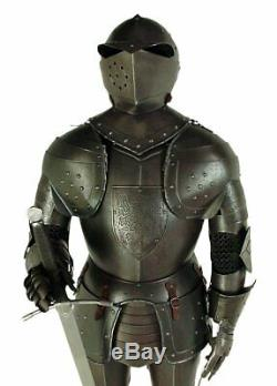 Medieval Knight Wearable Suit Of Armor Crusader Combat Full Body Armour AR30