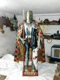 Medieval Knight Wearable Suit Of Armor Crusader Combat Full Body Armour ZA20