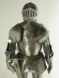 Medieval Knight Wearable Suit Of Armor Crusader Gothic Full Body Armour AG08