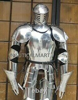 Medieval Knight Wearable Suit Of Armor Crusader Gothic Full Body Armour AG20