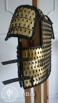 Medieval Lamellar brass armour Breastplate with sleeves Scale Armor