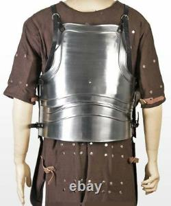 Medieval Large Body Armor 18G Metal Breast Plate with Tassets Fluted Cuirass