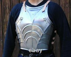 Medieval Larp Fantasy Gothic Type Half Body Armor Suit Cuirass With Pauldrons Br