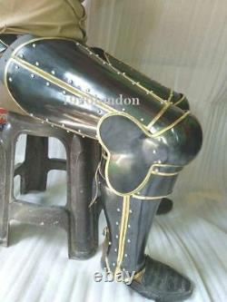 Medieval Leg Armor Knight Protection Collectibles Steel Plates Reproduction 18 G