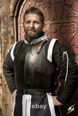 Medieval Milanese Armour Epic Dark Breastplate Knight Cuirass Cosplay Costume