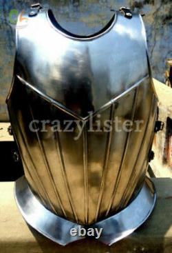 Medieval Muscle Roman Muscle Breast Plate Armor chrome finish Armor jacket Style