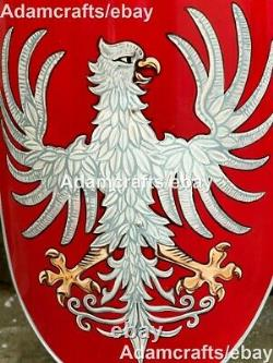 Medieval Red Eagle Family Coat Of Arms Shield Knight Shield